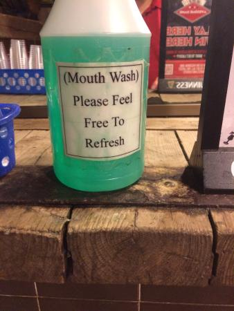 Port Edward Restaurant: Nice touch with mouth wash available in the wash room.