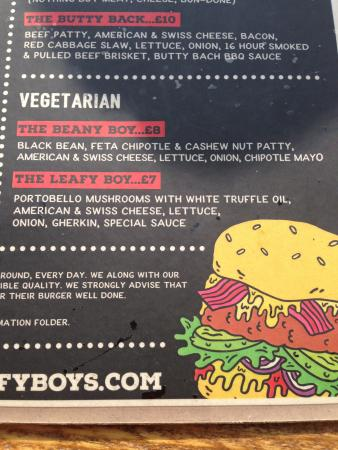 Vegetarian options - Picture of The Beefy Boys, Hereford