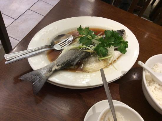 Steamed sea bass picture of cafe tpt london tripadvisor for Asia cuisine ithaca hours