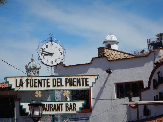 La Fuente Del Puente: Notice the Crown on the Guadalupe Cathedral.