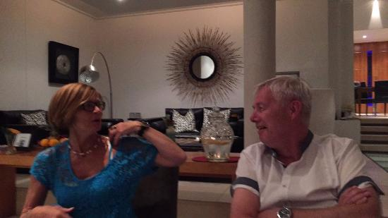 Bantry Bay, Südafrika: A top class 4 course meal with mom and dad
