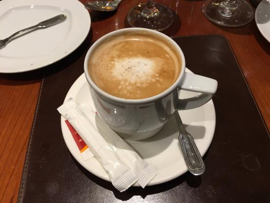 Lisbon Marriott Hotel Was Offered Coffee After Our Meal It Great