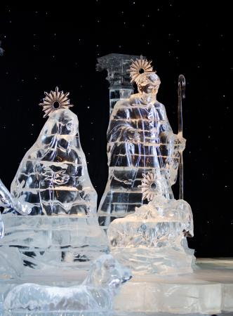 Gaylord Palms Resort & Convention Center: Nativity Ice Sculpture