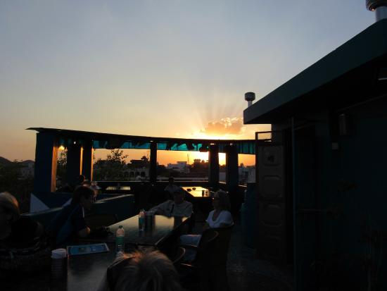 Out Of The Blue: Sunset from roof-top