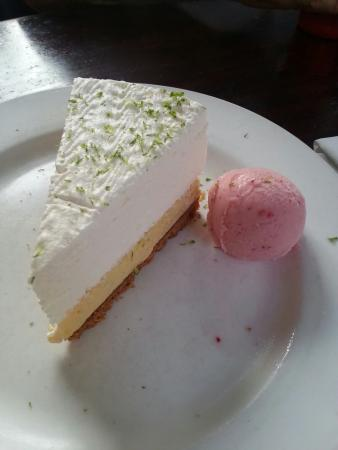 Luggage Room Pizzeria: Key Lime pie with Strawberry Gelato.. pure heaven!