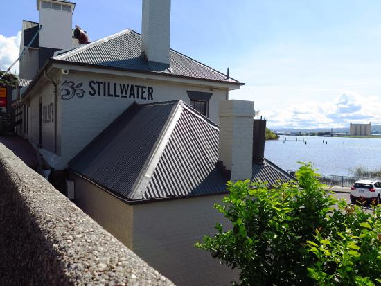 Building and views of the Tamar River