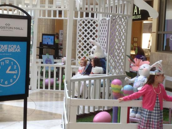 Livingston Mall - the Easter Bunny is here!