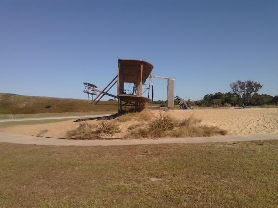 Wright Brothers National Memorial: Side View of Model.