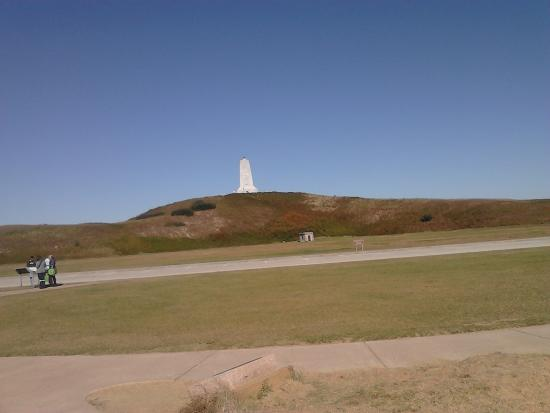 Wright Brothers National Memorial: View of Monument From Road.