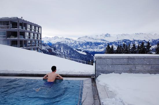 Rigi Kaltbad, Suiza: 수영장 전망