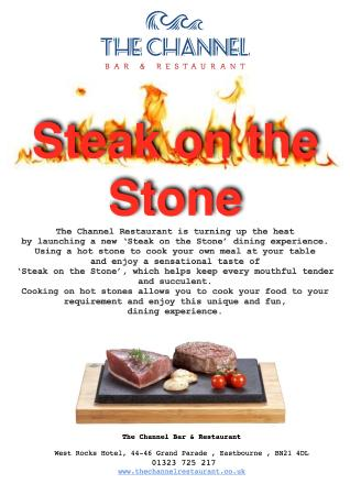 West Rocks Hotel: Steak Stones