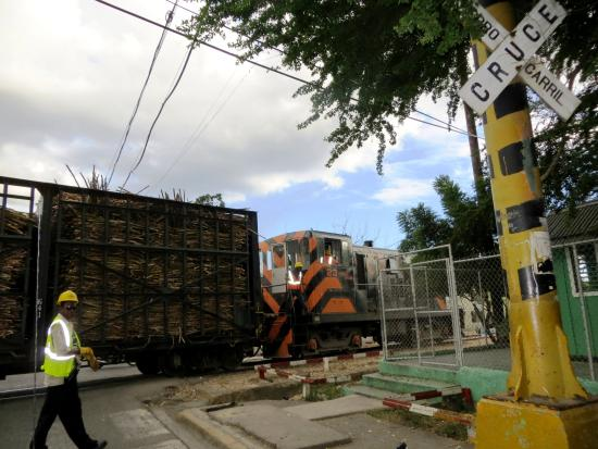 La Romana Province, Dominik Cumhuriyeti: TRAIN DE CANNE A SUCRE A LA ROMANA
