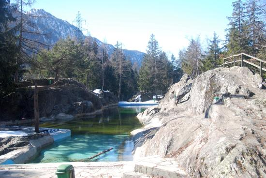 Zoo Et Piscine des Marecottes: The natural pool overlooked by the restaurant and terrace