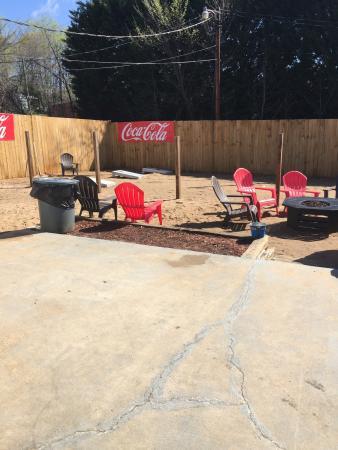 outdoor area fire pit and cornhole picture of jacks burger bar rh tripadvisor co nz