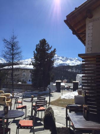 Hotel Chesa Rosatsch - Home of Food: Terasse vom Restaurant Uendas