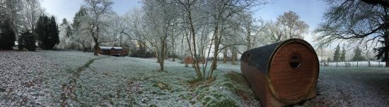 Janvry, France: Domaine en hiver