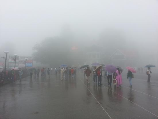 thick fog picture of the ridge shimla tripadvisor