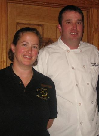 Raquette Lake, estado de Nueva York: Chef Jim in charge of the food & kitchen; Rachel is beverage manager and special events coordina