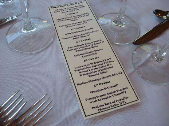 Raquette Lake Navigation Co: Wine Pairings