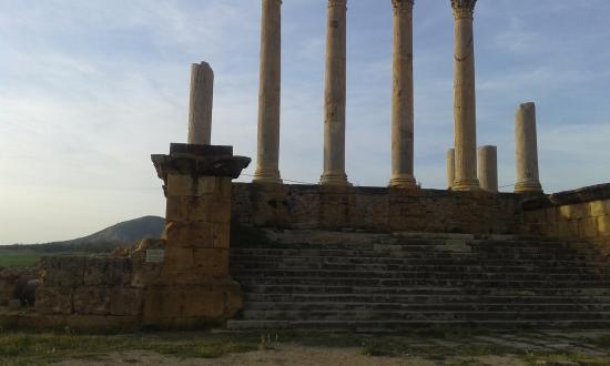 El Fahs, Tunisia: Temple capitolin dédié à Jupiter, Minerve et Junon