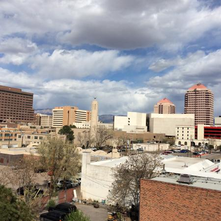 The Hotel Blue: Here's the view from my room of the Albuquerque skyline.