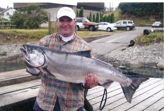 Nanaimo, Canada: My Son Christopher and hi first King Salmon with Skipper Bill