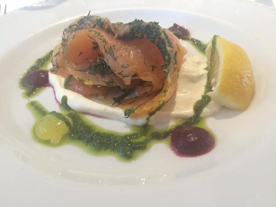 The Dining Room: Gravadlax starter