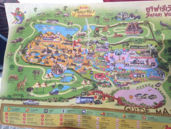 Safari world map picture of safari world bangkok tripadvisor safari world map gumiabroncs Gallery