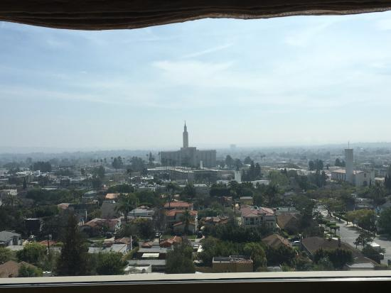 View from our room on the 18th floor picture of kimpton for 10877 wilshire boulevard 18th floor los angeles ca 90024