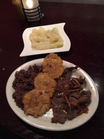 Burtonsville, MD : Flank steak entree and yuca side item