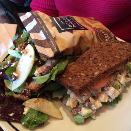 chicken salad sandwich harvest salad picture of corner bakery rh tripadvisor com