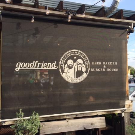 Goodfriend Beer Garden And Burger House: Patio Sunscreen