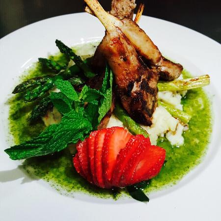 Fresh spring specials lamb and mint picture of acropolis for Acropolis cuisine