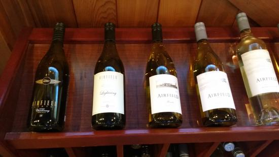Airfield Estates Winery: Some of Airfield's delectable white wines
