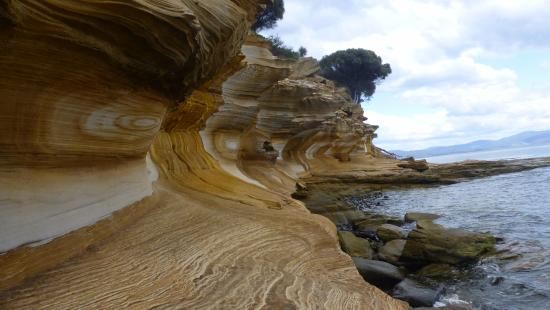 Tasmania, Australia: Painted Cliffs, rough coastline!