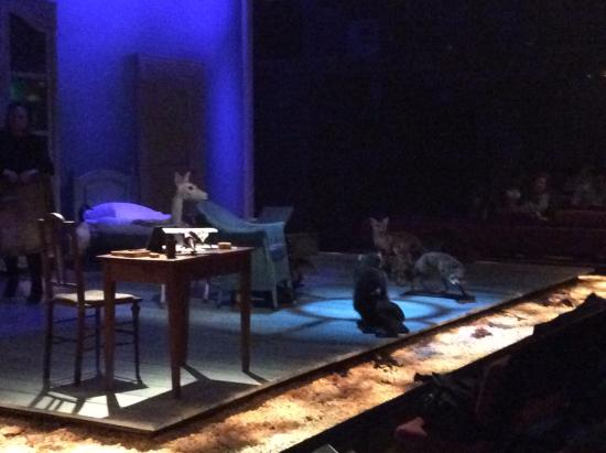 Donmar Warehouse: Front view: the set gets more complex