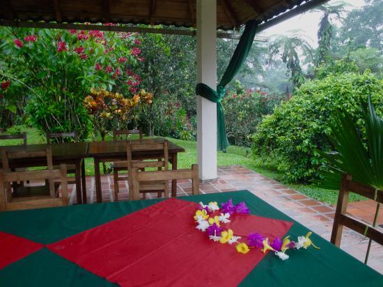 Jungle Lodge El Jardin Aleman: Dining space