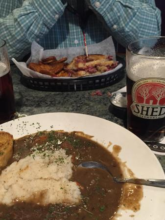 Norwich, CT: Reuben and chips and Irish Stew