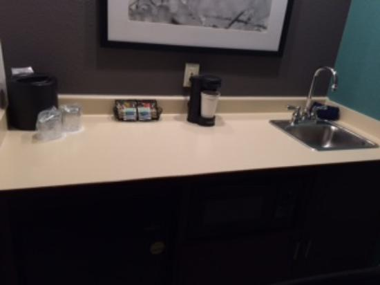 SpringHill Suites Boston Andover: Close up of sink area.