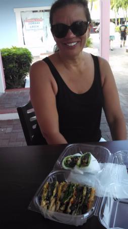 Livity Vegetarian Take-Out & Juice Bar : Grilled mushroom wrap and panini