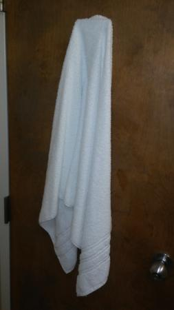 Weldon, Kuzey Carolina: Used towel on the back of the bathroom door.