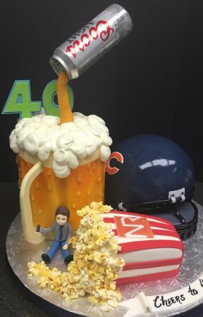 Milettes Cakes Bears Helmet Cake Popcorn Beer Mug And Hanging Coors