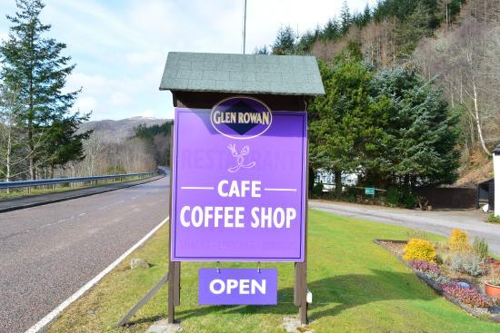 Glen Rowan Cafe: sign