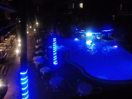 The Baga Marina: Gorgeous night vibe right outside your balcony!