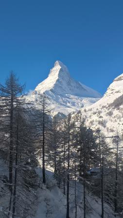 CERVO Zermatt: View of Matterhorn from the living room