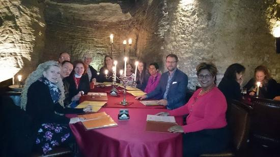 Restaurant Peklo: Our group of friends reunited after 27 years in Prague.