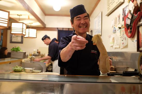 My Favorite Sushi Chef In The World Hide San Picture Of Kifune