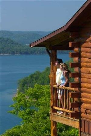 Lake Shore Cabins on Beaver Lake: On the waterfront