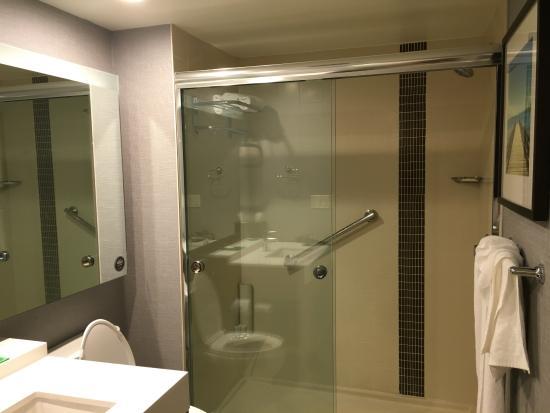 hyatt place san juancity center shower only bathroom - Shower Only Bathroom