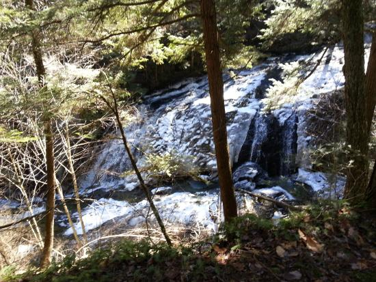 Morrisville, VT: Waterfall a must see on the red trail